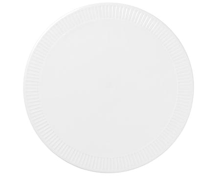 Pillivuyt Plissé serveringstallerken rund hvit - 30 cm