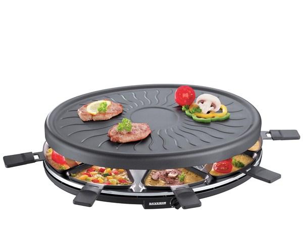 Severin Raclette 8 pers. 1100 watt Sort