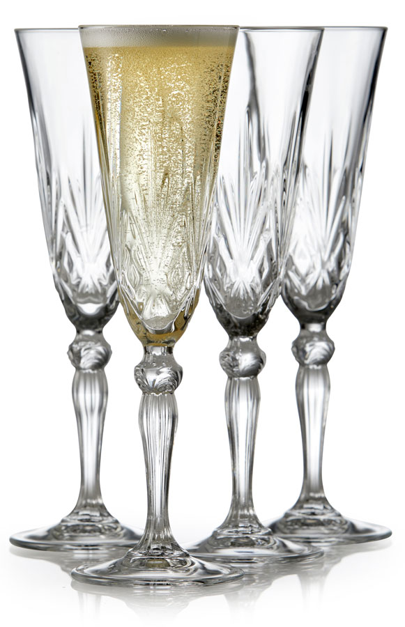 Lyngby Glass Champagne Melodia 16cl 4 stk krystall
