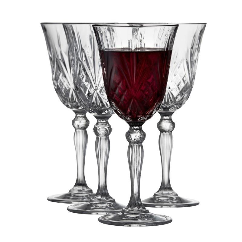 Lyngby Glass Melodia rødvin  27cl 4 stk krystall