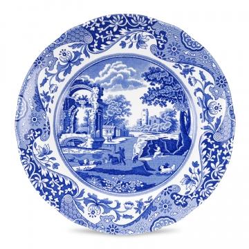 Blue Italian Plate 20cm