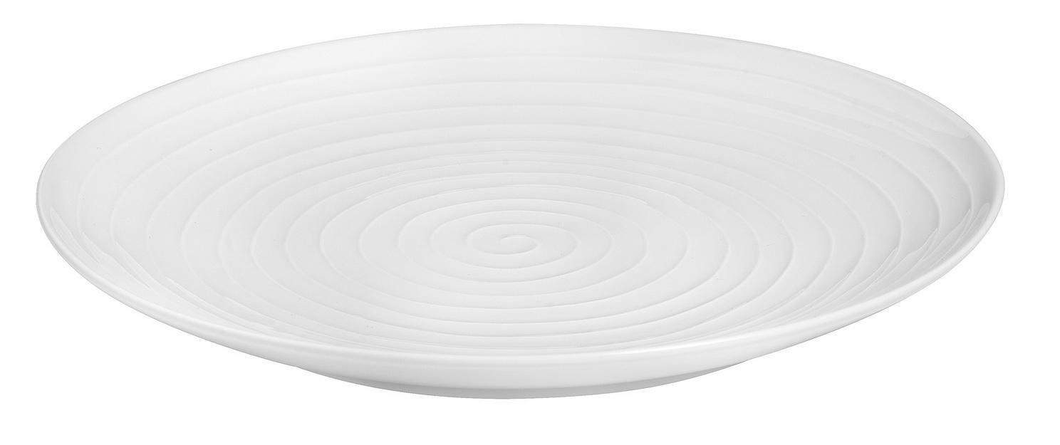 Design House Stockholm Blond Big Serving Plate, Stripes. 35 cm