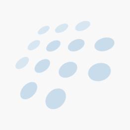 Pillivuyt Vienne Plissé tallerken dyp hvit/platin - 22 cm