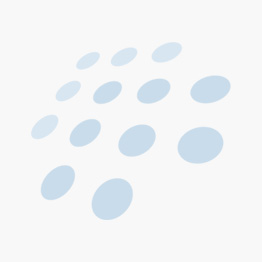 Festival Kommode hvit m/3 kurver i grått stoff