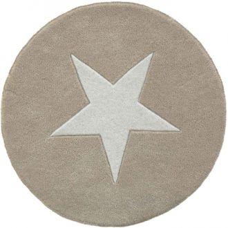 Linie Design Star teppe Ø130 beige