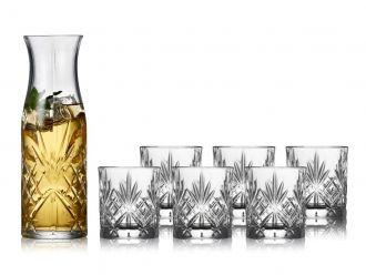 Lyngby Glass Krystall Melodia Karaffelsett 7 deler