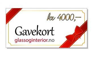 Gavekort 4000 kr