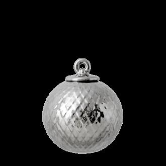 Lyngby porselen Rhombe julekule sølv