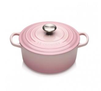 Le Creuset Støpejernsgryte Shell Pink 2.4L