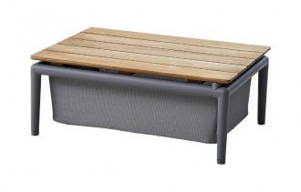 Cane-line Conic box bord teak / lys grå