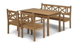 Skagerak Skagen Set, Teak (2 Chairs, 1 Bench, 1 Table)