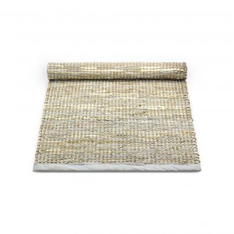 Rug Solid Jute Skinnteppe Smooth Grey 75x200 cm