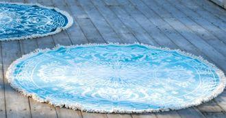 Staalnacke Maya håndkle Ø150 Aqua