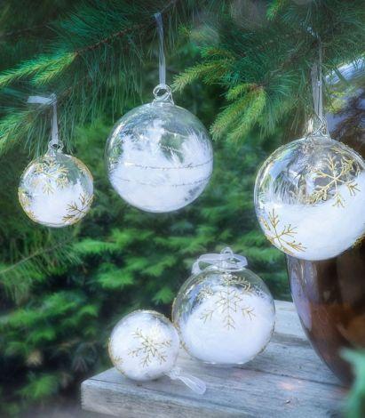 Magnor Himmel På Jord Julekule Gull m / Store Stjerner 120 mm