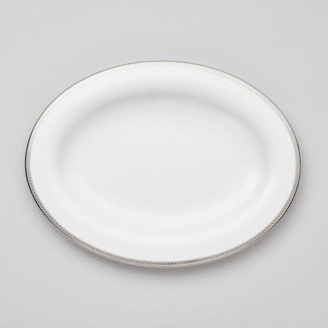 Royal Porcelain Silver Paisley Ovalt Fat 39 cm