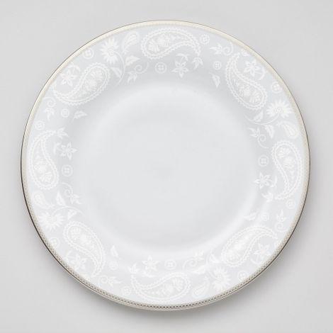 Royal Porcelain Silver Paisley Rundt Fat 32 cm