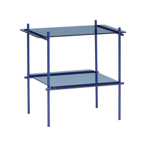 Hübsch Sidebord Firkantet metall / glassblått. Levering juli -21.