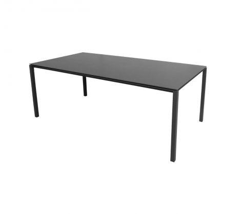 Cane-line Pure spisebord Aluminium-base Lava Grå 200x100cm