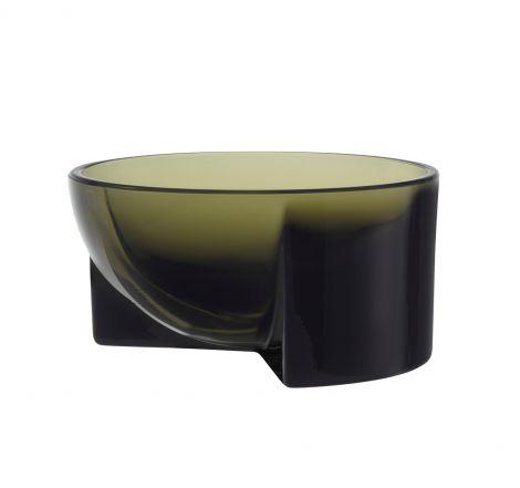 Iittala Kuru glasskål 130x60mm mosegrønn