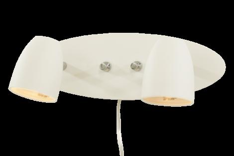 Scan Lamps Sandnes Vegglampe 2 lys Hvit