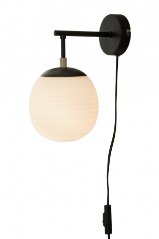 Scan Lamps Rille Vegglampe Sort/Opal