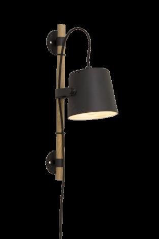 Scan Lamps Espresso Vegglampe Sort/Tre