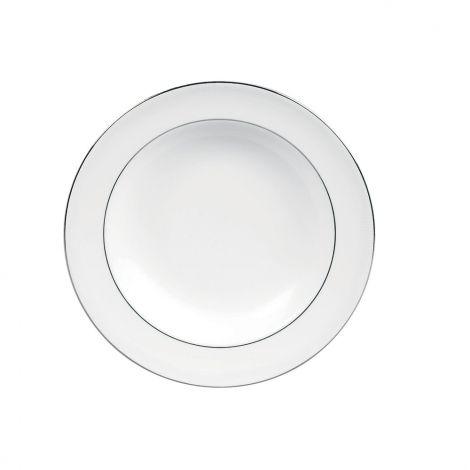 Vera Wang Blanc sur Blanc White Rim Soup 23cm