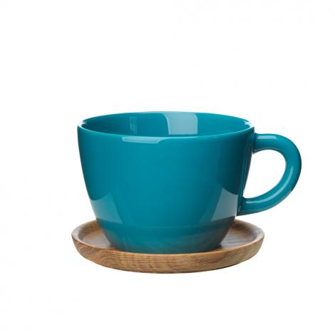 Høganæs Keramikk Sjøgrønn Tekopp m/ Trefat 50 cl 6stk