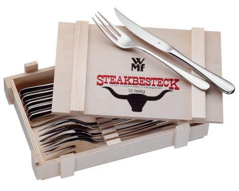 WMF Bestikk Steakbestikk - 6 set Kniv + Gaffel