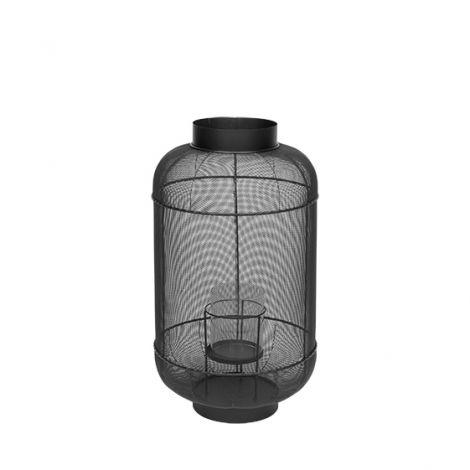 Broste Copenhagen LANTERNE 'BULL' METALL, GLASS H67CM