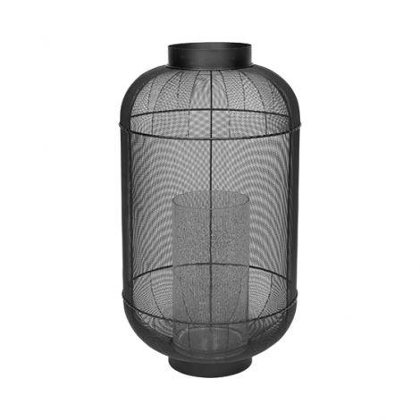 Broste Copenhagen LANTERNE 'BULL' METALL, GLASS H82,5CM
