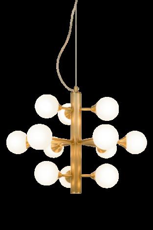 Scan Lamps Cosmos Taklampe 12 arm Matt Messing/Hvit