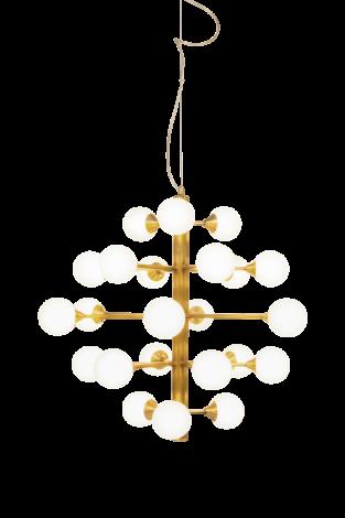 Scan Lamps Cosmos Taklampe 24 arm Matt Messing/Hvit