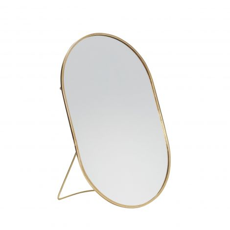Hübsch brett speil m / fot oval messing 25x16