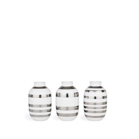 Kähler Omaggio Vaser 3stk Sølv