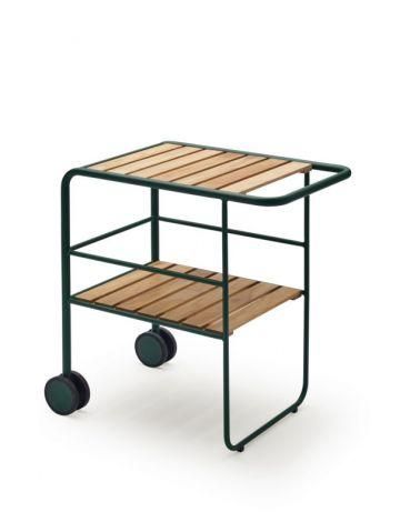 Skagerak Fuori Serveringstralle Teak Aluminium / Grønn