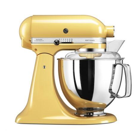 KitchenAid Artisan Kjøkkenmaskin Gul  - 4,8 + 3 liter. Levering april -21.