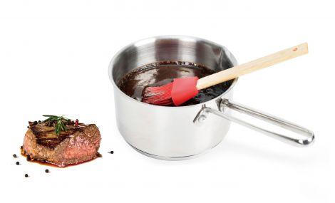 Modern House Bbq marinadesausgryte med pensel blank, rød børste