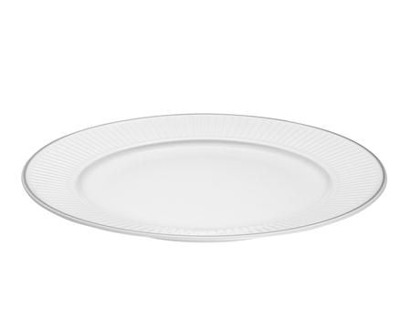 Pillivuyt Vienne Plissé tallerken flat hvit/platin - 26 cm