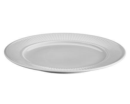 Pillivuyt Plissert plate flat lys grå - 28 cm