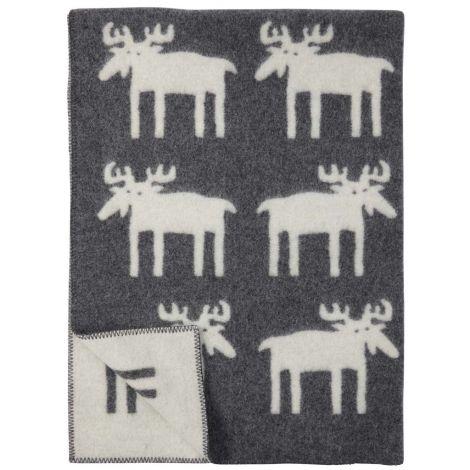 Klippan Pledd Moose Grå 130x180 cm