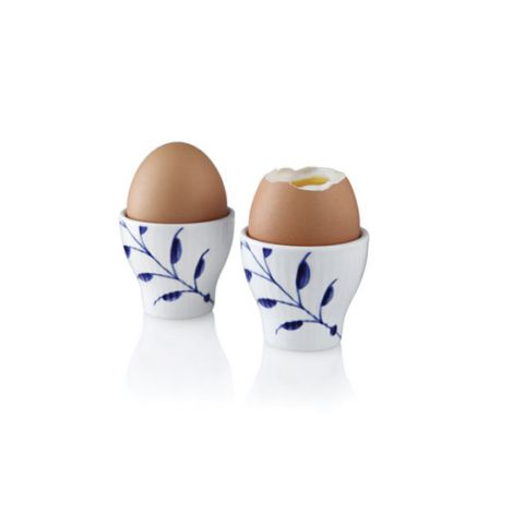 Royal Copenhagen Blå Mega Riflet egg cup 2 stk. Levering januar 2021.