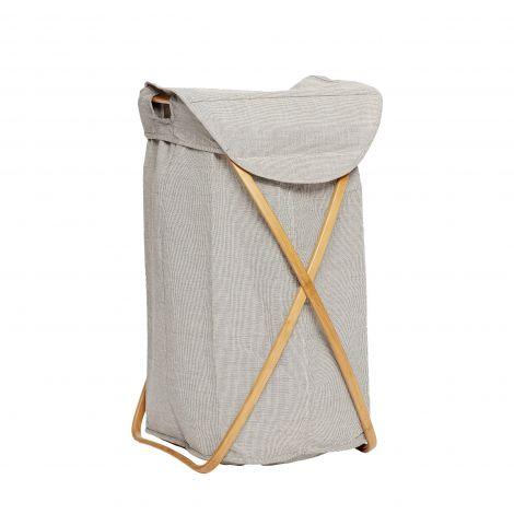 Hübsch skitten vaskekurv stoff / bambusgrå. Levering juni -21.