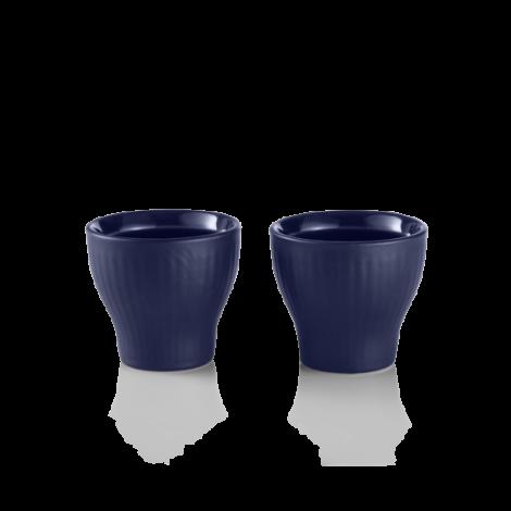 Royal Copenhagen Blue Ribbed Egg cups 2-pack