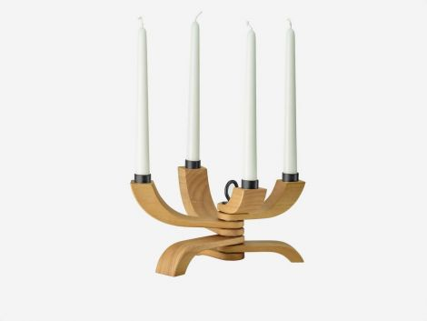 Design House Stockholm Nordic Light Lysestake 4 armer Treverk