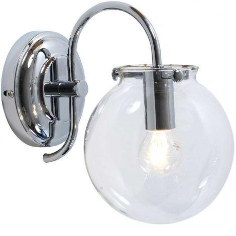 Eglo Mano Vegglampe Krom/ Glass