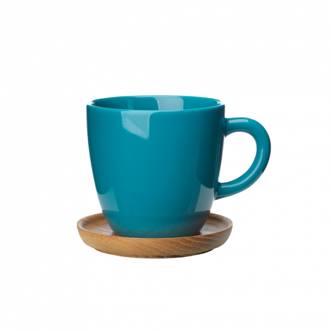 Høganæs Keramikk Sjøgrønn Kaffekopp m/ Trefat 33 cl 6stk