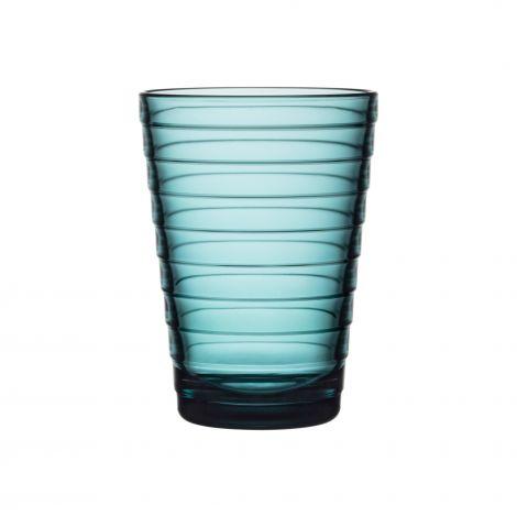 Iittala Aino Aalto glass 33cl sjøblå 2-pk