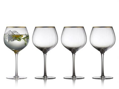 Lyngby Glass Palermo Gold Gin & Tonic Glass 65 cl 4-pk. Levering november -21.