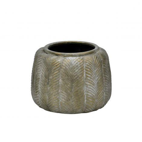 Holmen Claude Blomsterurne Messing D17.5xH13.5 Keramikk